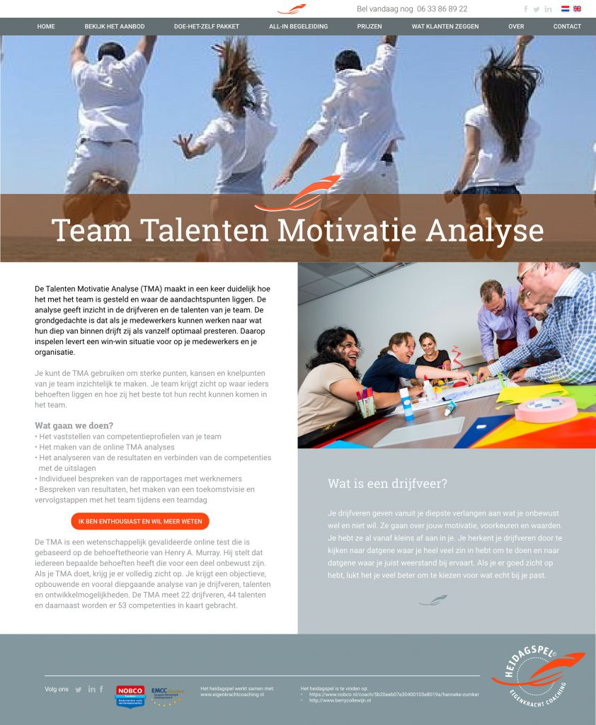 Website Motivatie Analyse