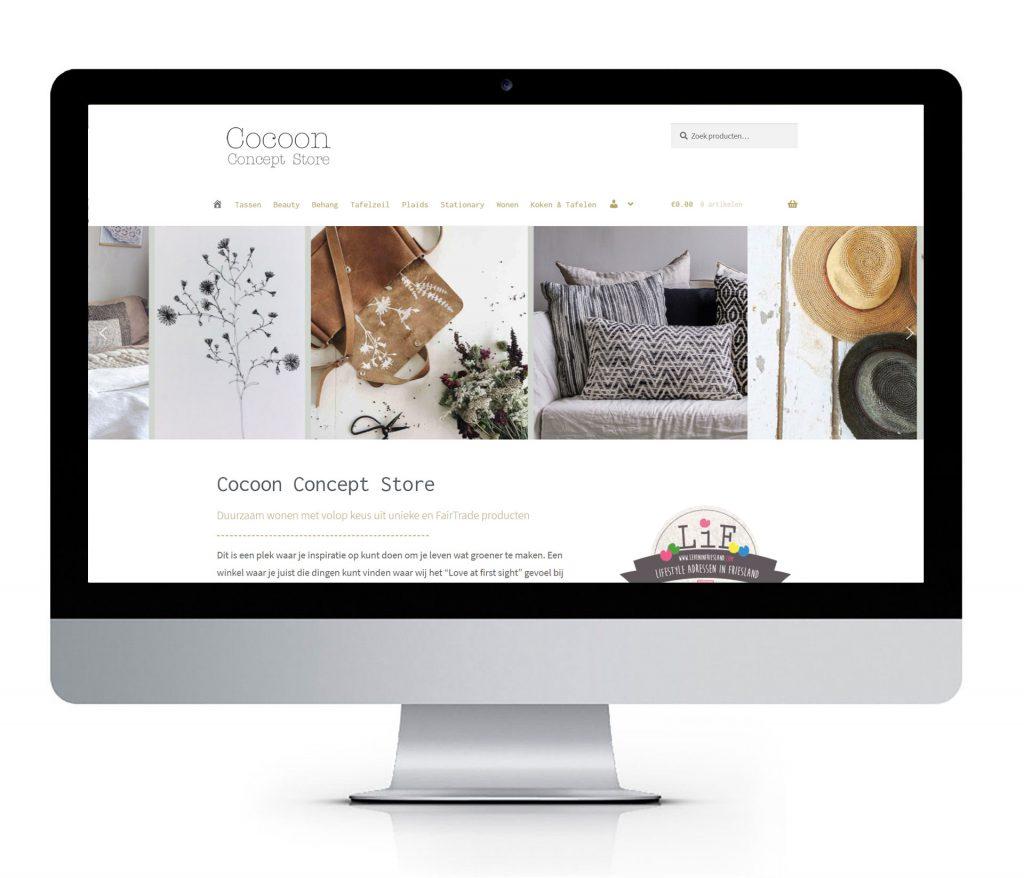 Webshop Responsive Design Cocoon Concept Store