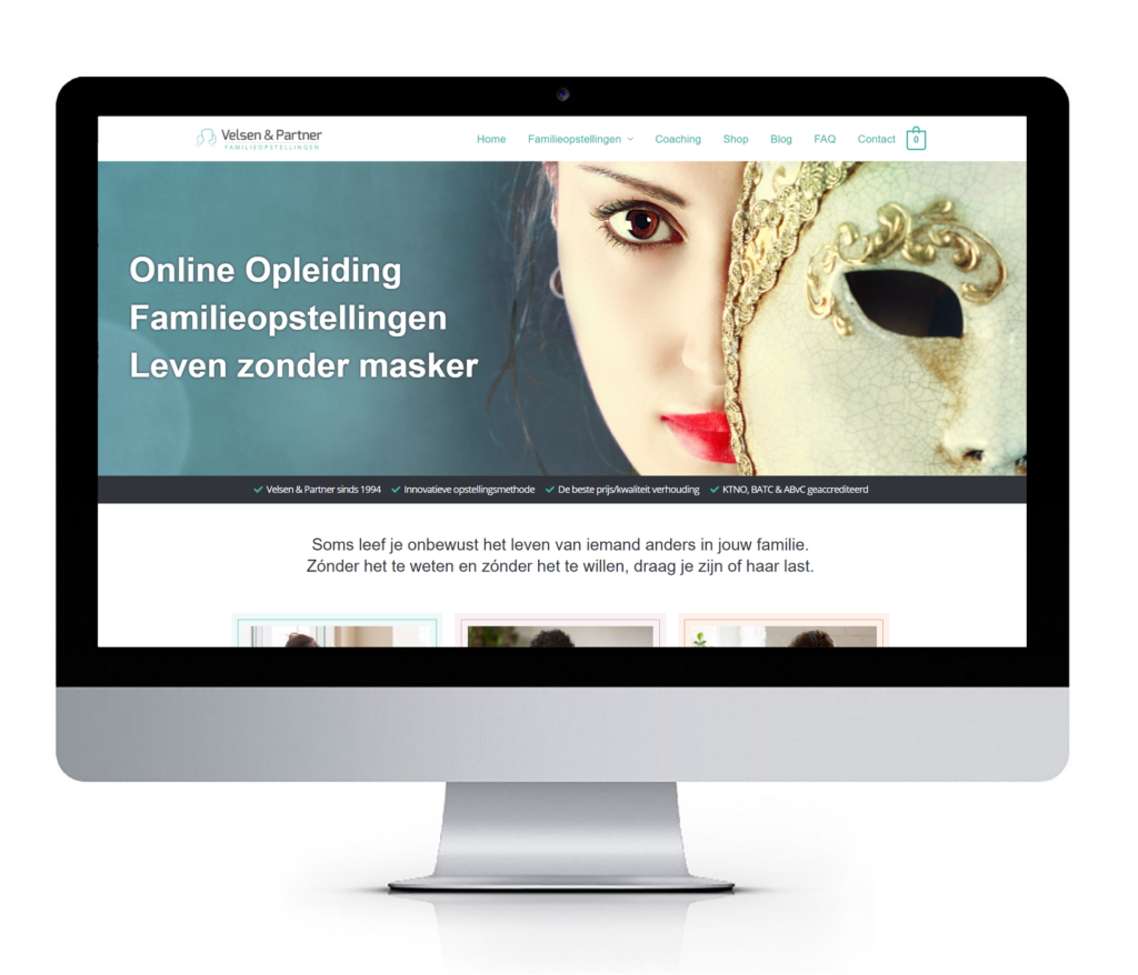 Jan Velsen Familieopstellingen website ontwerp in wordpress
