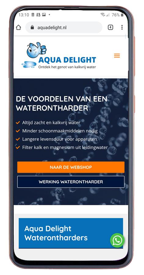 Responsive website voor Aqua Delight waterontharders