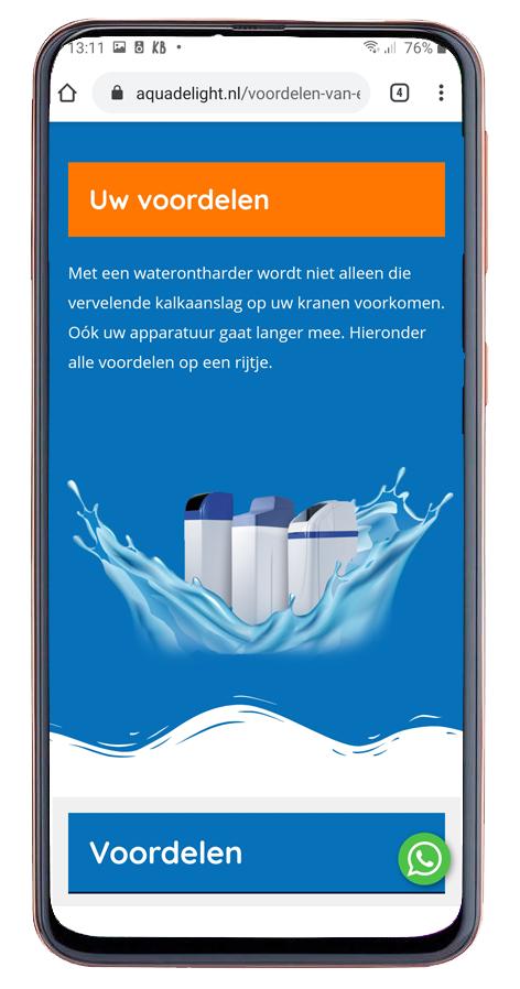 Website voor waterontharders