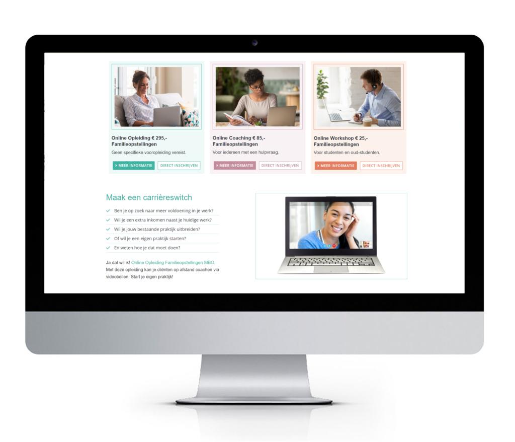responsive webdesign voor coaching