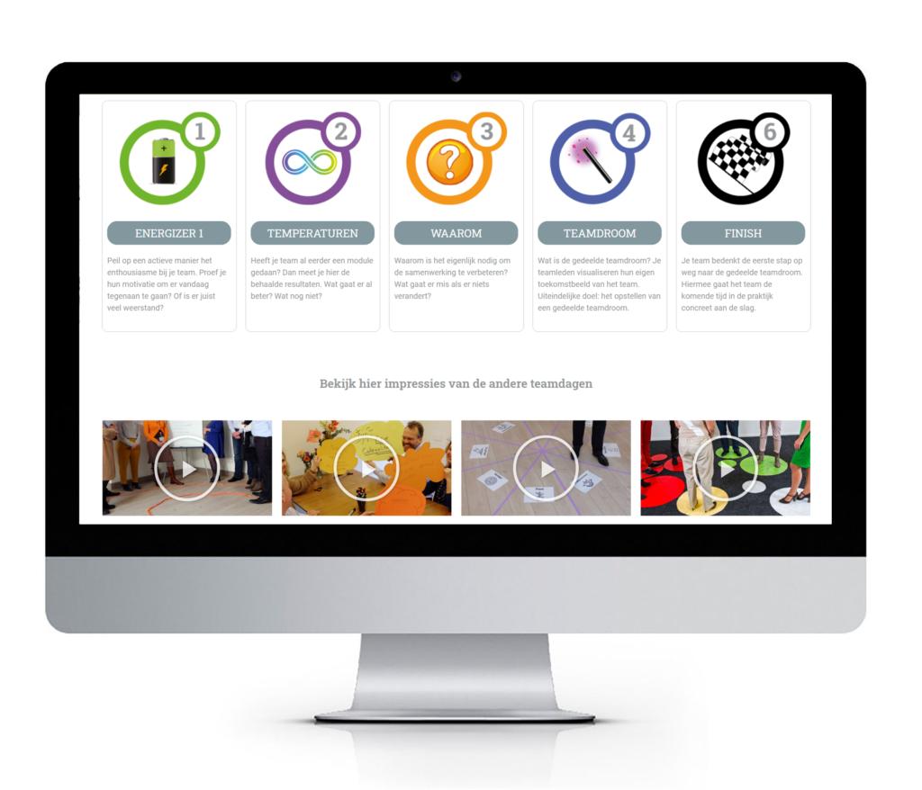 responsive website ontwerp voor coaching en teambuilding