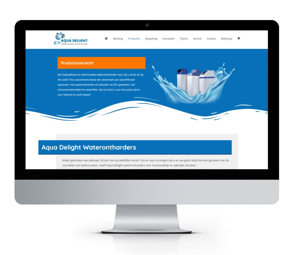 Responsive website voor Aqua Delight Waterontharders Leeuwarden