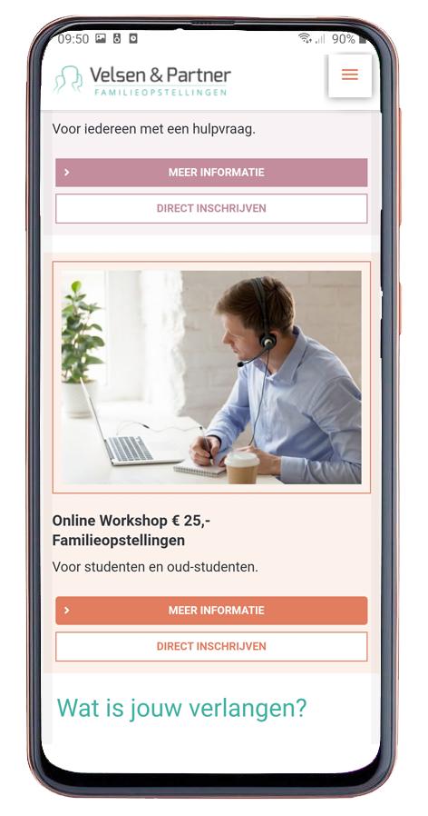 webontwerp voor online cursus familieopstellingen