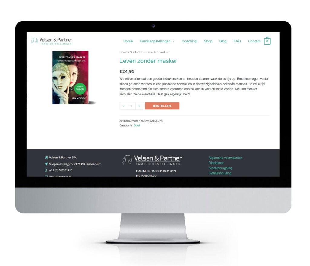 website met webshop voor verkoop van online cursussen