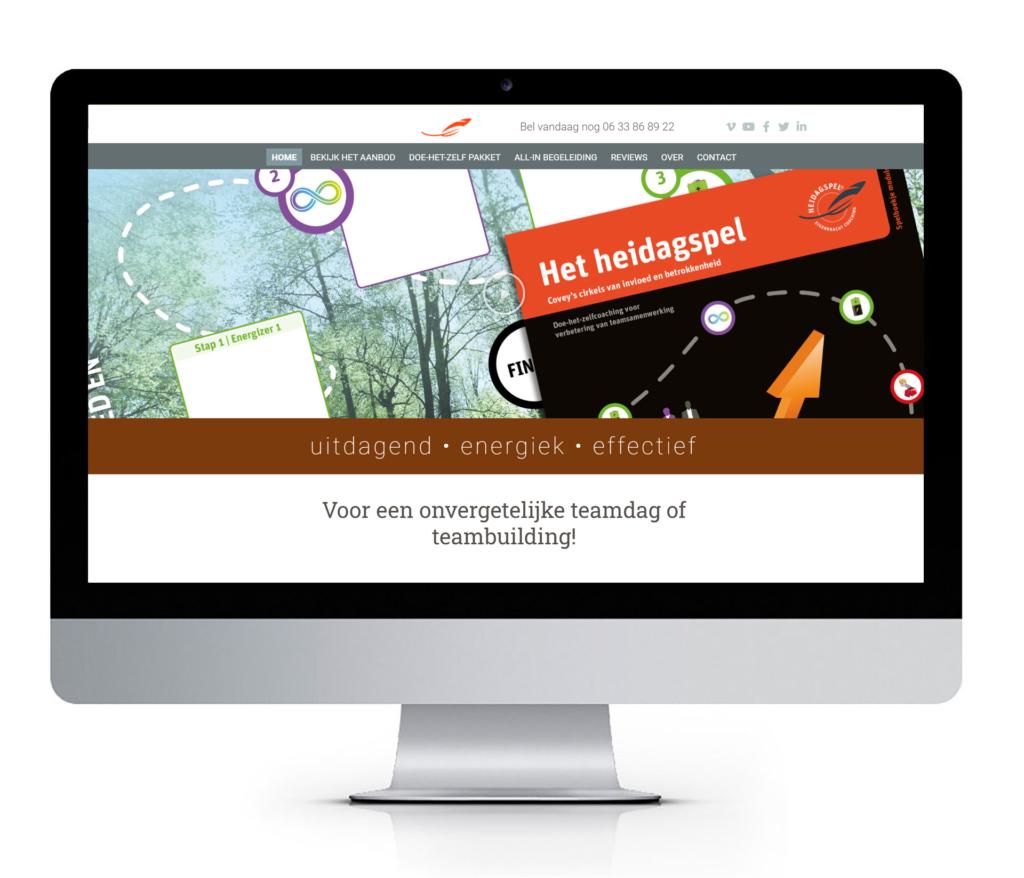 website voor een actieve teamdag