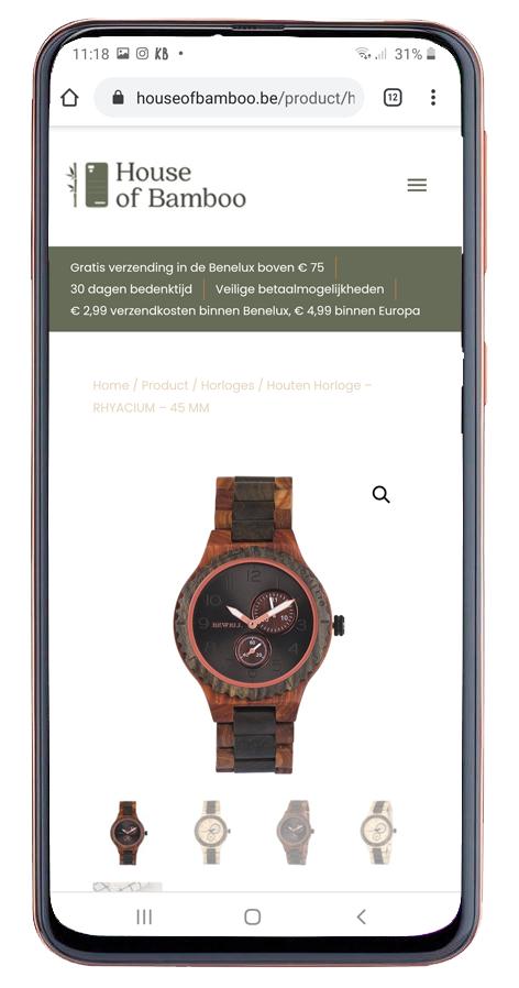 mobiel ontwerp webshop house of bamboo