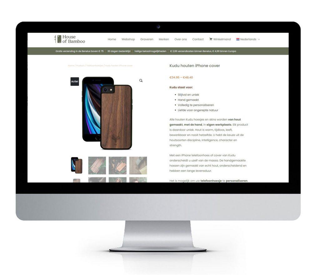 Webshop op maat voor House of Bamboo