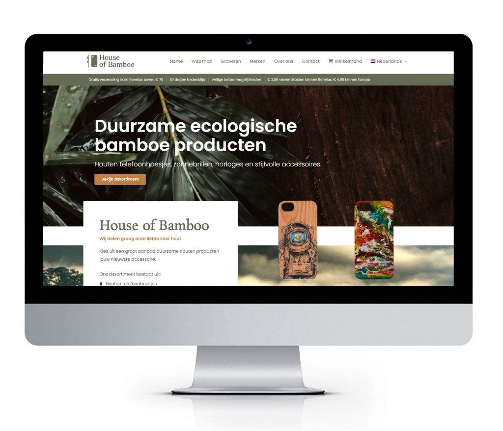 Webshop ontwerp House of Bamboo
