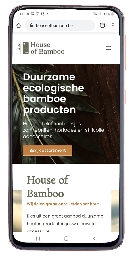Responsive webshop house of bamboo