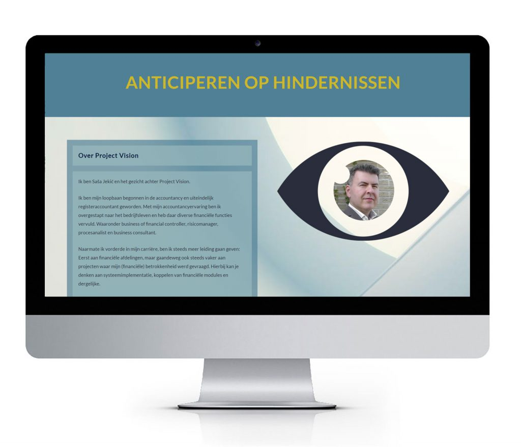 WordPress website op maat voor Project Vision