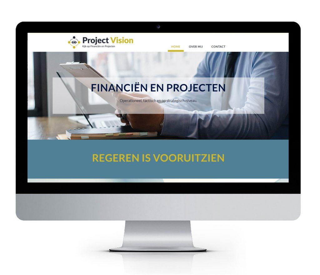 Website voor Projectmanagement en Financieel management